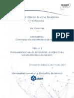U1 Fundamentos Para El Estudio de La Estructura Socioeconomica de Mexico