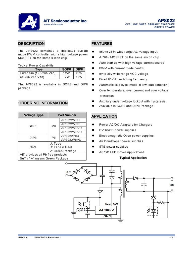 Ap8022   Field Effect Transistor   Mosfet