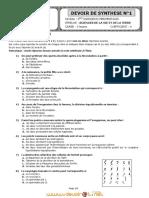 Devoir de Synthèse N°1 - SVT - Bac Sciences exp (2011-2012) Mr kairouan