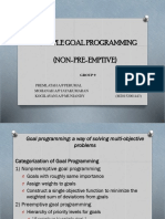 Multiple Goal Programming