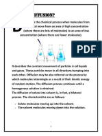 Diffusion of Solids in Liquids