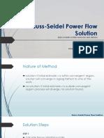 Gauss-Seidel Power Flow Solution