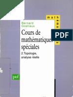 Bernard Gostiaux-Cours de Mathématiques Spéciales, Tome 2 _ Topologie, Analyse Réelle. 2-Presses Universitaires de France - PUF (1993) (1)
