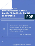 Comunicarea International Si Mass Media Globala