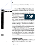 Message strategies + Executional frameworks