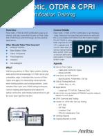 OTDR Certification Brochure - 11410-00820 Rev. B