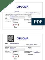 Diploma Del Participante Adidas 2010