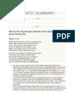 Canto i Summary