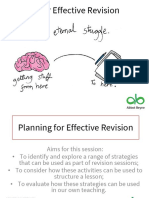 Planning for Effective Revision