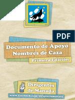 Documento de Apoyo - Nombres de Caza