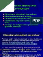 5.Eficientizarea Interactiunii Elev-profesor