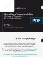 Topic 9 Reporting of Assessment Data