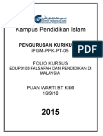 02ia CoverFolioKursus_depan_EDUP3103.doc