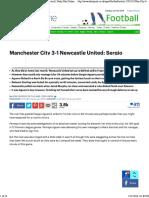 Man City 3-1 Newcastle_ Sergio Aguero Scores Hat-trick
