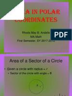 Areas in Polar Coordinates(Report)
