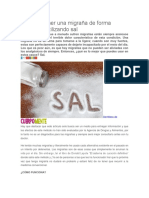 Cómo Detener Una Migraña de Forma Inmediata Utilizando Sal