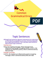 Common Errors in a Paragraph