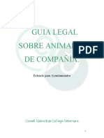 Guia Legal Sobre Animales de Compañia