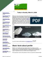 Pearlite Insulation
