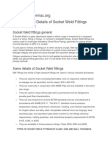 Definition and Details of Socket Weld Fittings ASME