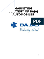 132943426 Marketing Strategy of Bajaj Automobiles Doc