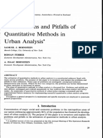 Bernstein - The Problems and Pitfalls of Quantitative Methods in Urban Analysis