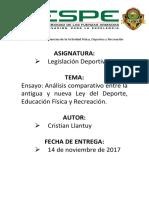 Análisis Ley Del Deporte