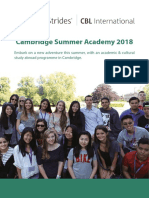 Cambridge Summer Academy 2018