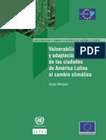 Vulnerabilidad y Adaptación de Las Ciudades de América Latina Al Cambio Climático