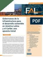 Gobernanza de La Infraestructura Para El Desarrollo Sostenible en América Latina y El Caribe Una Apuesta Inicial