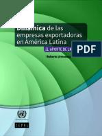 Dinámica de Las Empresas Exportadoras en América Latina El Aporte de Las PYMES