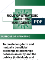 Strategic Role of Marketing