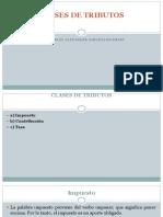 Derecho Tributario I-clases de Tributos