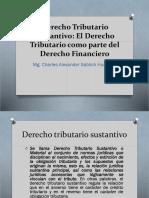 Derecho Tributario Sustantivo-El Derecho Tributario Como Parte Del Derecho Financiero