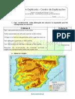 A.1.2 Ficha de Trabalho - Características Naturais Da Península Ibérica (2)