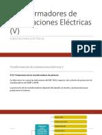 Transformadores de Subestaciones Eléctricas VI