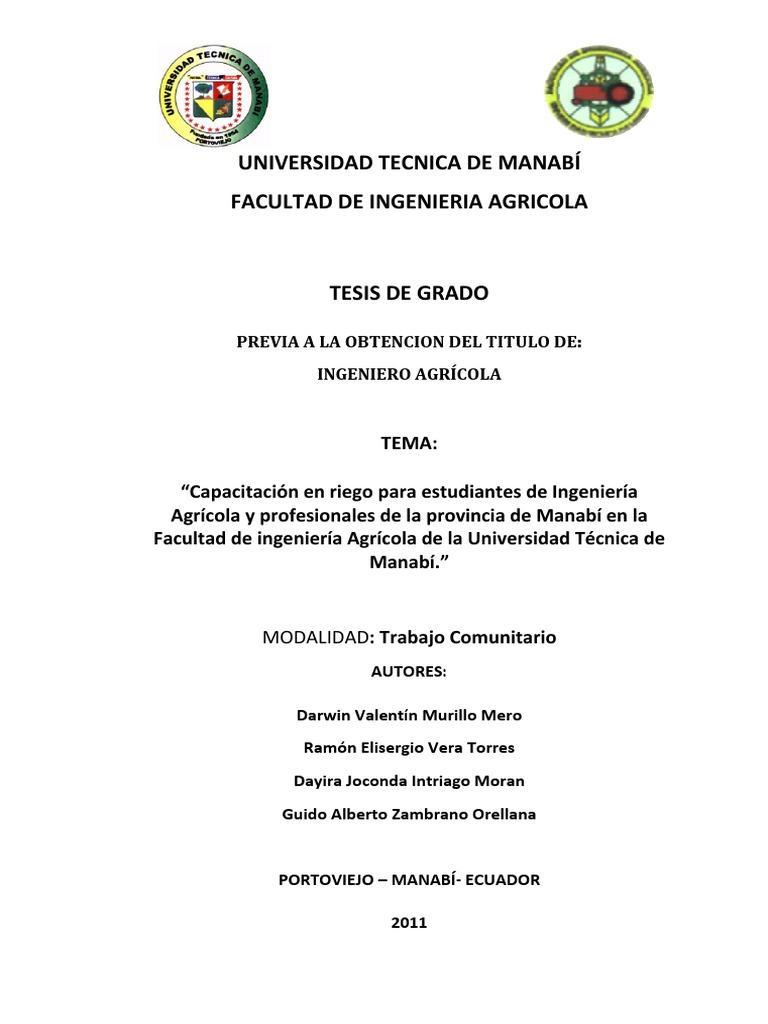 Tesis Agricola