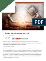 7 Pasos, Liberate Del Ego