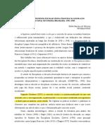 A Presença Da Disciplina Escolar Língua Francesa Na Legislação GT 2