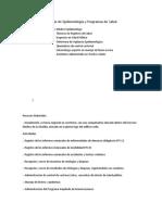 Actividades División de Epidemiología y Programas de Salud