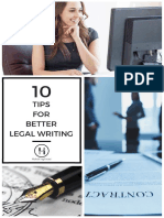 10 Tips for Better Legal Writing