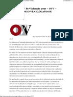 Informe Ovv de Violencia 2017 – Ovv – Observatorio Venezolano de Violencia