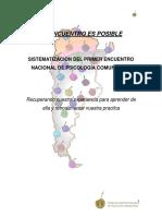 Sistematización Primer encuentro Psicologia Comunitaria Argentina
