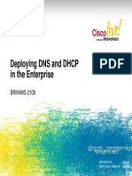 Deploying DNS and DHCP in the Enterprise