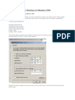 How to Install Active Directory on Windows 2008