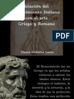 Relación entre el arte renacentista y el greco romano