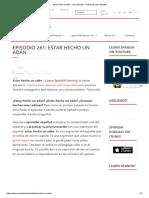 Estar Hecho Un Adán - Learn Spanish - Podcast to Learn Spanish