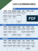 Man Gym Schedule