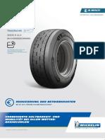 De Michelin x Multi t2 385 55 r 22.5