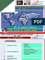 NIC 18 - Ingresos  Ordinarios.ppt